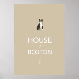 Boston Terrier poster print