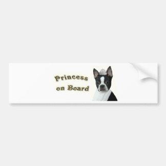 Boston Terrier:  Princess on Board Bumper Sticker
