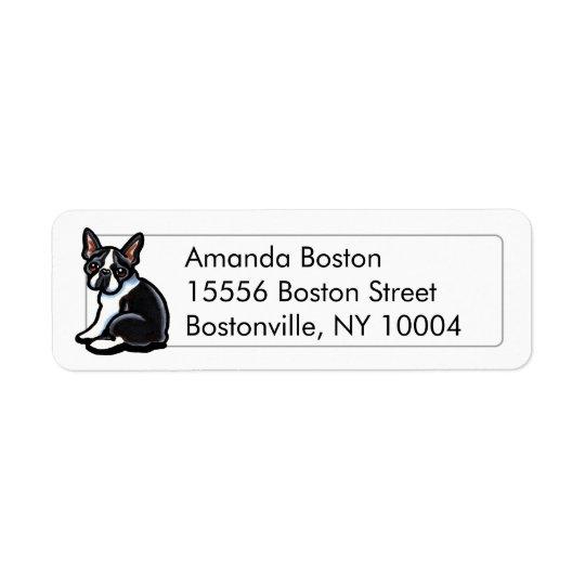 Boston Terrier Profile Studio Simple