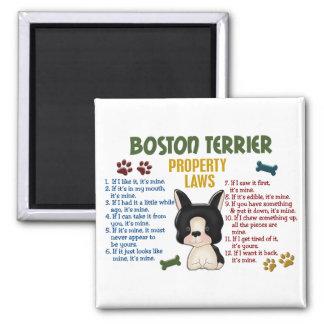Boston Terrier Property Laws 4 Fridge Magnets