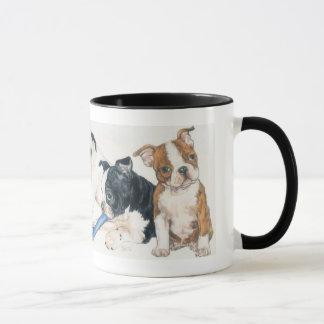 Boston Terrier Puppies Mug