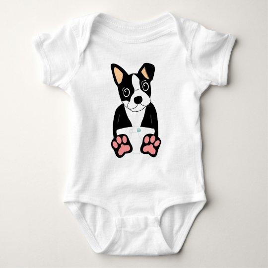 Boston Terrier Puppy Baby Bodysuit