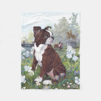 Boston Terrier Puppy Dreamer Fleece Blanket
