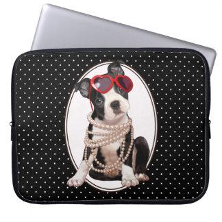 Boston Terrier Puppy Laptop Computer Sleeve
