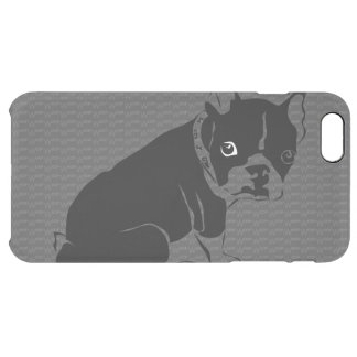 Boston Terrier puppy Woof Clear iPhone 6 Plus Case