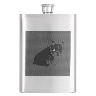 Boston Terrier puppy Woof Flasks