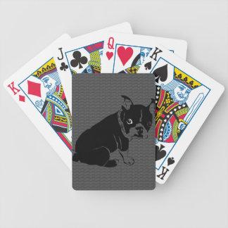 Boston Terrier puppy Woof Poker Deck