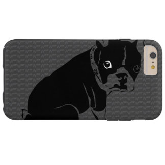 Boston Terrier puppy Woof Tough iPhone 6 Plus Case