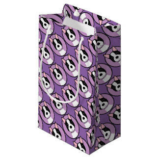 Boston Terrier Purple Small Gift Bag