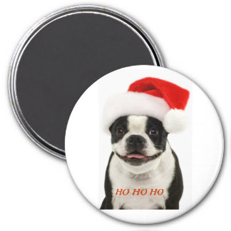 Boston Terrier Santa Magnet