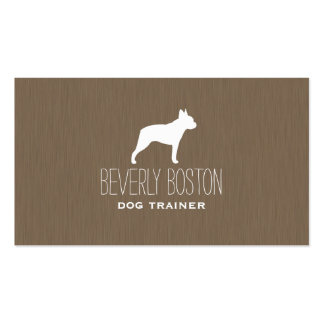 Boston Terrier Silhouette Business Card Template
