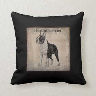 Boston Terrier Slate Pillow