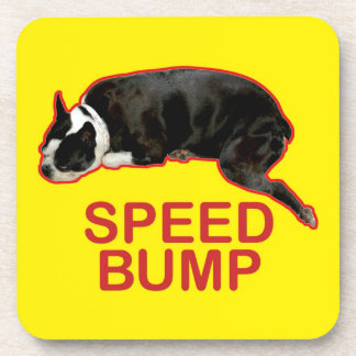 Boston Terrier Speed Bump Coaster