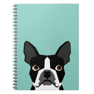 Boston Terrier Spiral Note Book