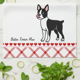 Boston Terrier Standing Kitchen Towel