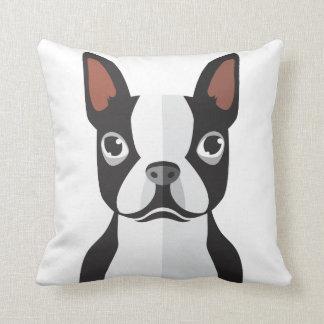 Boston Terrier Throw Pillow