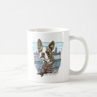 Boston Terrier Tricycle Coffee Mug