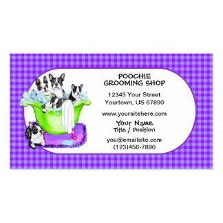 Boston Terrier Tub Full Business Cards
