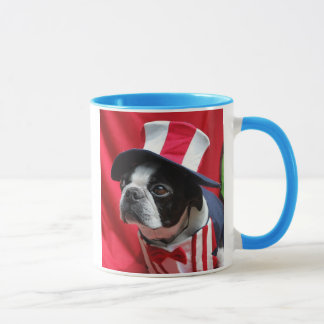 Boston Terrier Uncle Sam Mug
