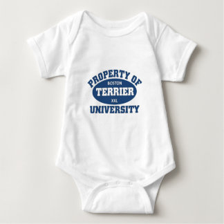 Boston Terrier University Baby Bodysuit