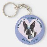 Boston Terrier v3 Porte-clé Rond