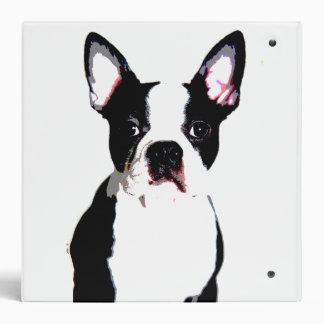 Boston Terrier Vinyl Binders