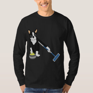 Boston Terrier Winter Olympics Curling T-Shirt