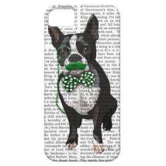 Boston Terrier With Green Moustache And Spotty iPhone 5 Cases