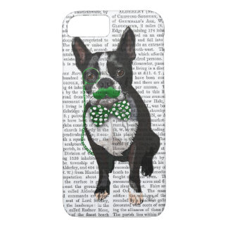 Boston Terrier With Green Moustache And Spotty iPhone 7 Case