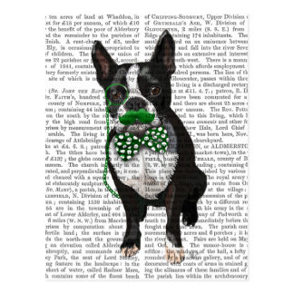 Boston Terrier With Green Moustache And Spotty Postcard
