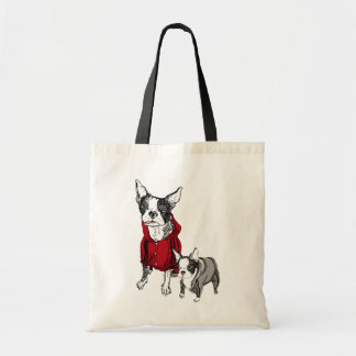 Boston Terrier with Puppy in Tracksuits Tshirt