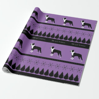 Boston Terrier Wrapping Paper