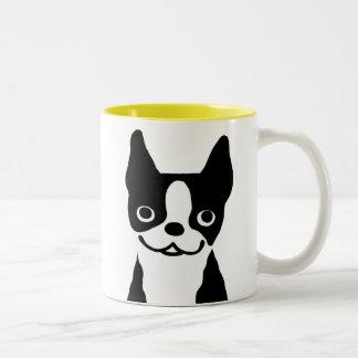 Boston Terriers - Cute Dog Design Two-Tone Coffee Mug