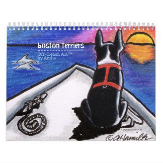 Boston Terriers Off-Leash Art™ Vol 1 Wall Calendar