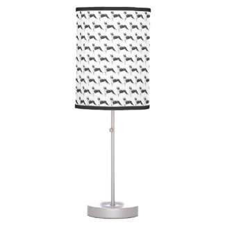 Boston Terriers Pattern Table Lamp