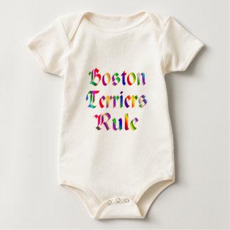 Boston Terriers Rule Baby Bodysuit