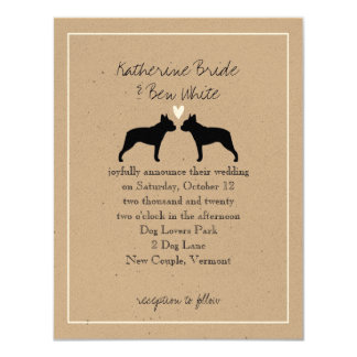 Boston Terriers Wedding Invitation