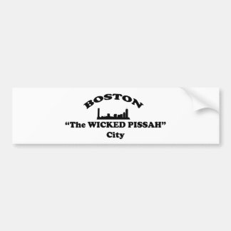 Boston The Wicked Pissah City Bumper Stickers