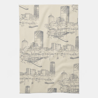 Boston Toile Kitchen Towel