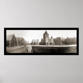 Boston Trinity Church Photo 1903 Poster
