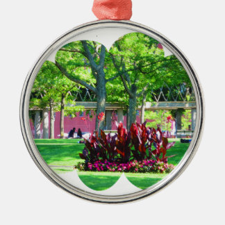 Boston USA America  Green Nature Photography Metal Ornament