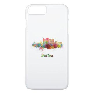 Boston V2 skyline in watercolor iPhone 8 Plus/7 Plus Case