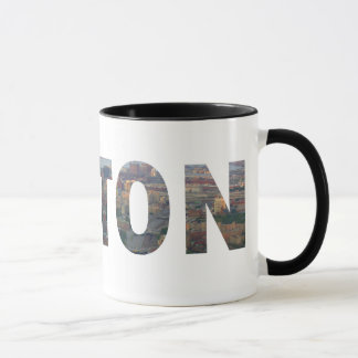 Boston view in letters. mug