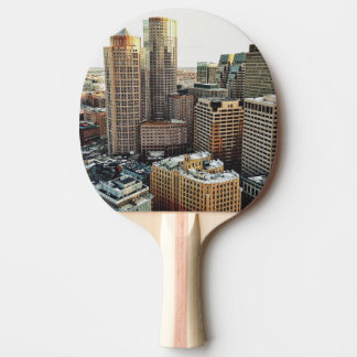 Boston view Ping-Pong paddle