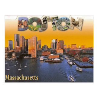 Boston Vintage retro Postcard