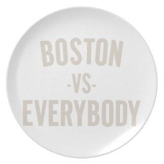Boston Vs Everybody Plate