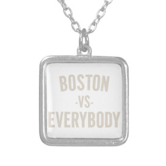 Boston Vs Everybody Silver Plated Necklace