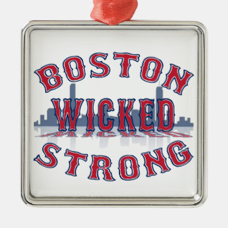 Boston Wicked Strong Metal Ornament