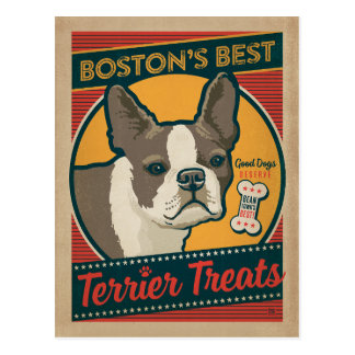 Boston's Best Terrier Treats Postcard