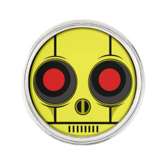 Bot Face Lapel Pin